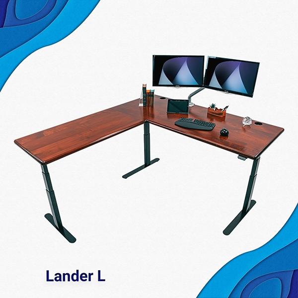 Lander L-Desks at Home