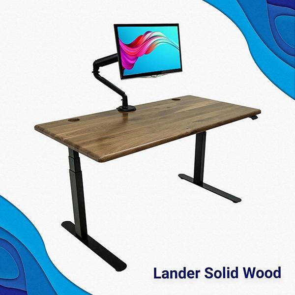 Lander Solid Wood Desks at Home