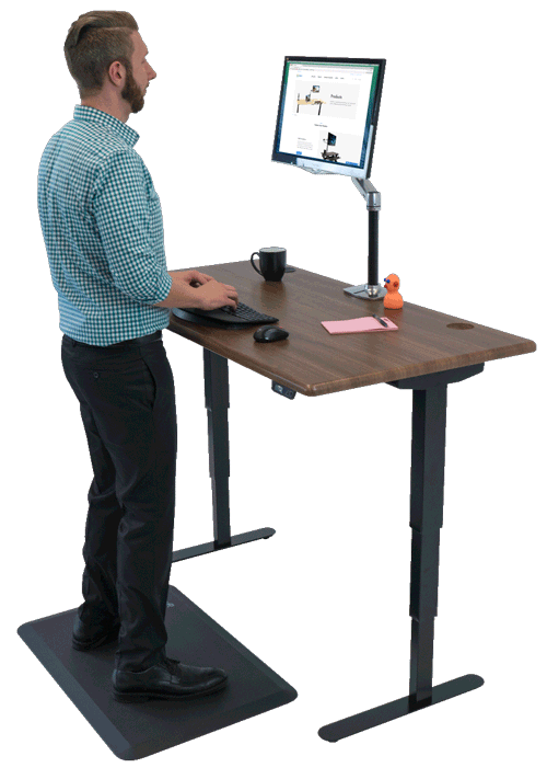 Shop standing desks sit stand stand up and adjustable for Office chairs for standing desks