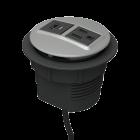 Rondo Grommet-Mounted Power Node ( 1 AC / USB A+C )
