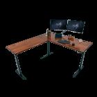 iMovR Lander L-Desk Solid Wood Top Hero Image