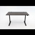 Obsidian Oak Full Desk With Black Legs