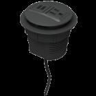 Rondo Grommet-Mounted Power Node (Dual USB-A / Single AC)