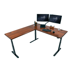iMovR Lander L-Desk Solid Wood Top Hero Image