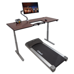 Lander Treadmill Desk with SteadyType - Solid Wood Top Hero