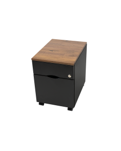 Mobile File Cabinet with Solid Wood Top and 3D-laminated Body