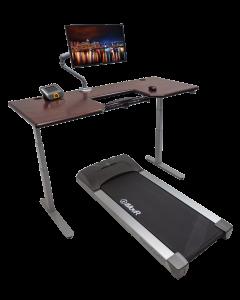 Lander Treadmill Desk with SteadyType - Solid Wood Top Hero