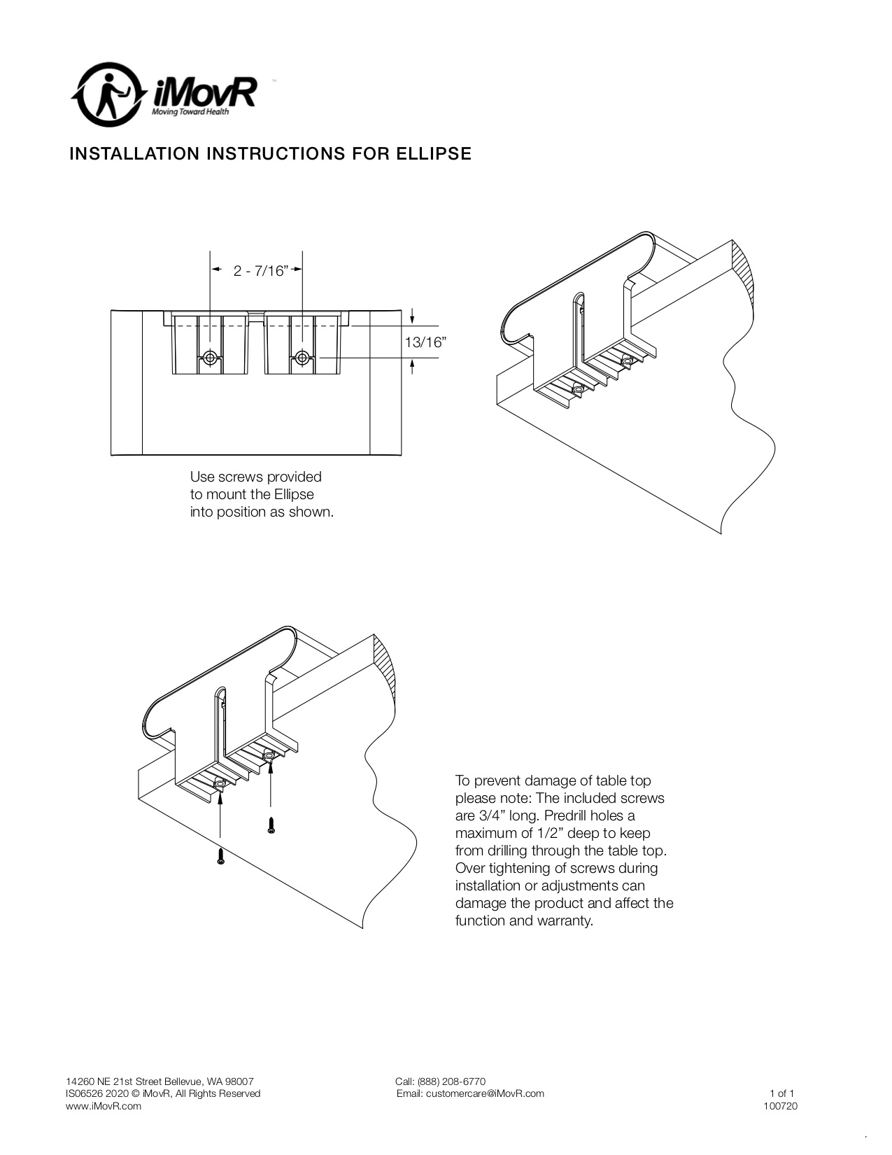 Ellipses Edge Mount Instillation Instructions