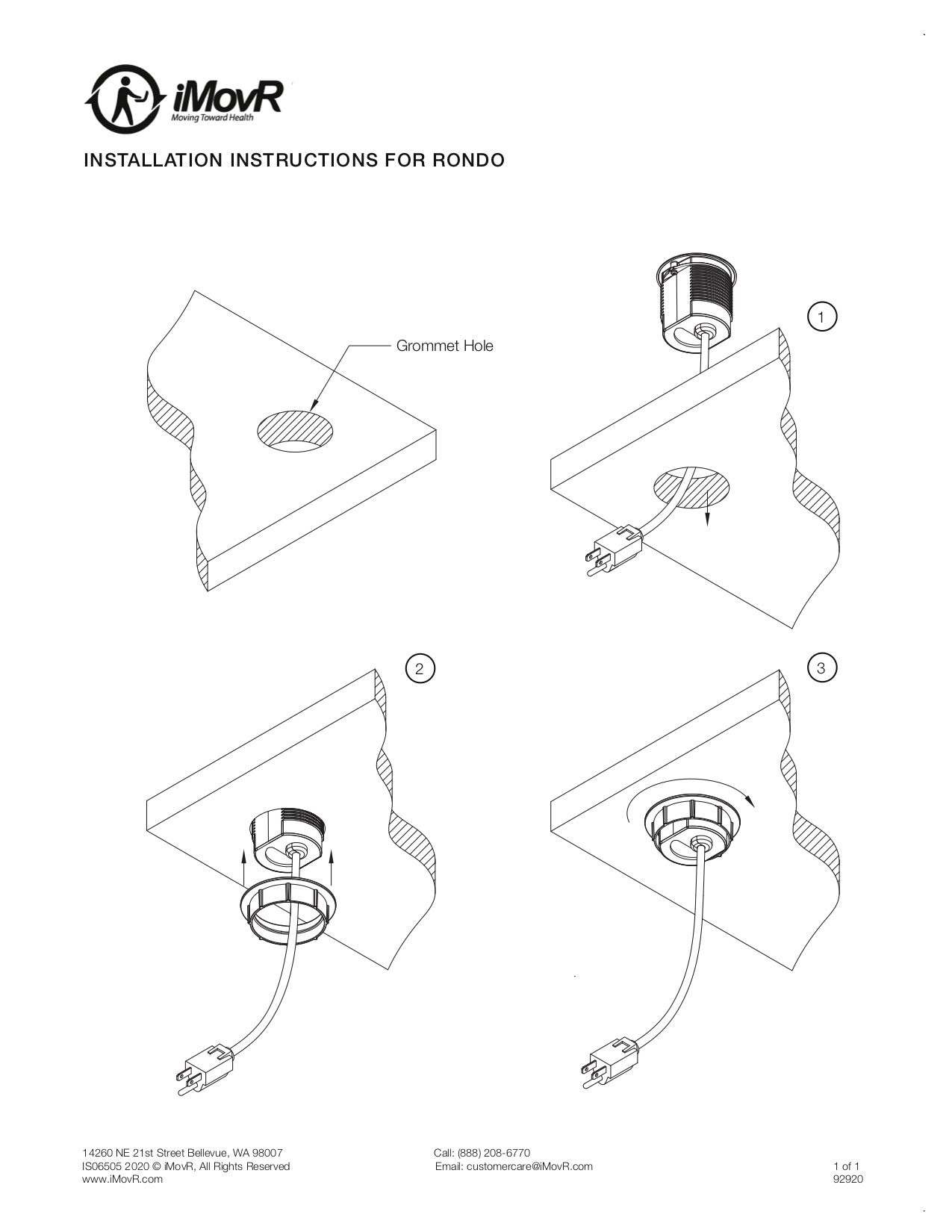 Rondo Instillation Instructions