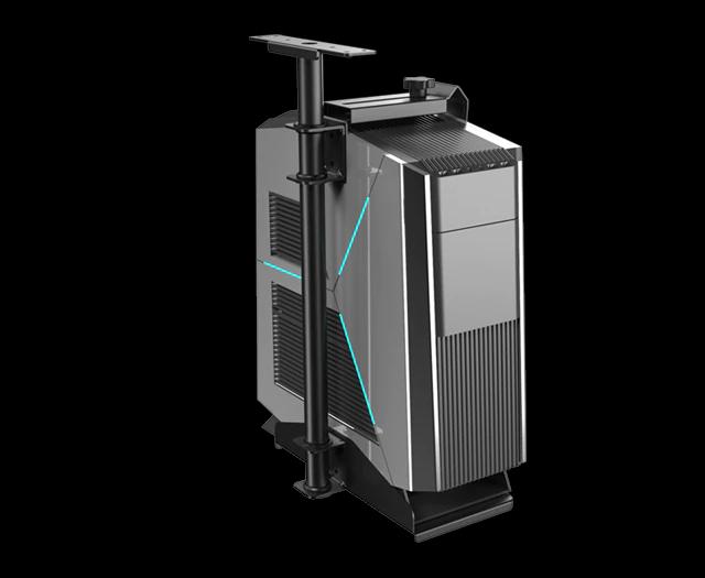 iMovR+Eureka CPU Holder 360 holding a CPU tower.
