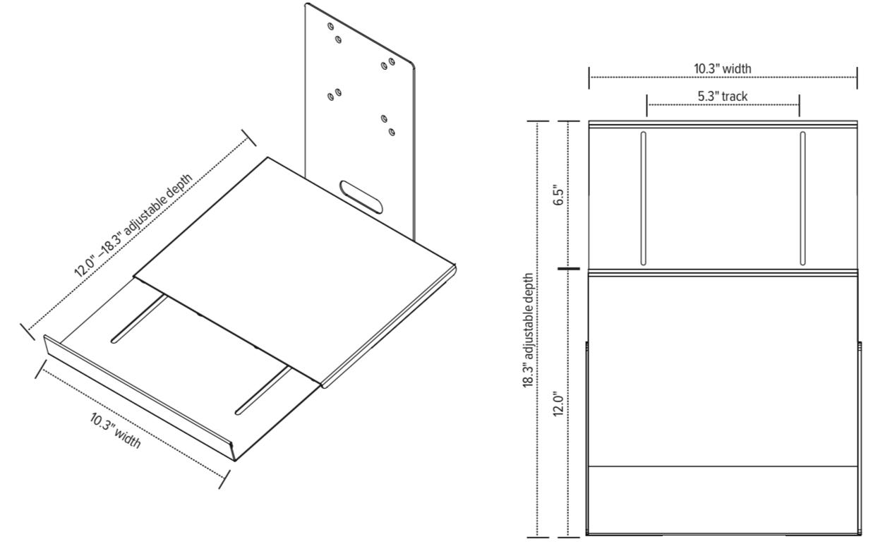 iMovR Dual-Purpose Laptop Holder Diagram