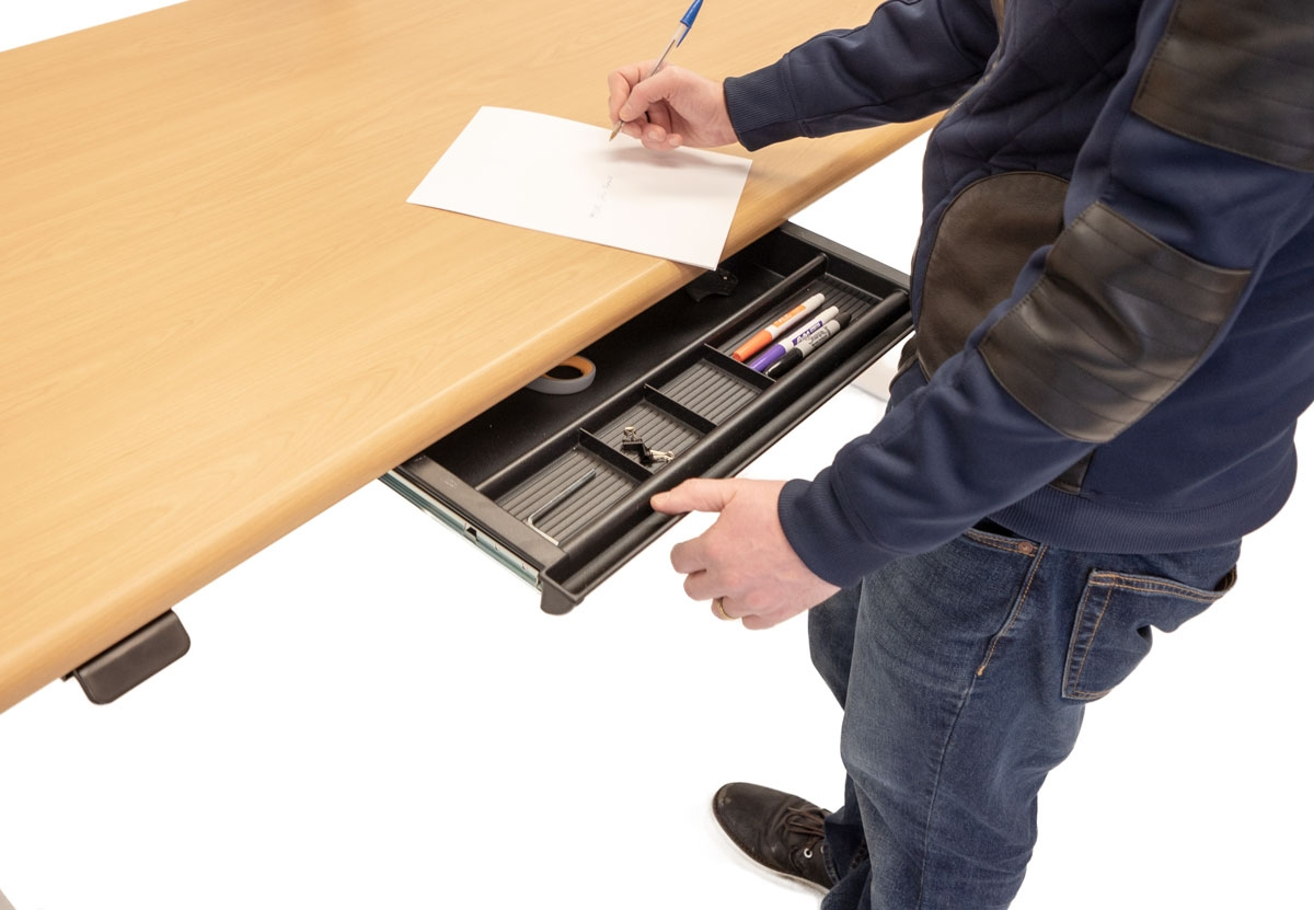 Hide-Away Storage Drawer (Open, Interior View)