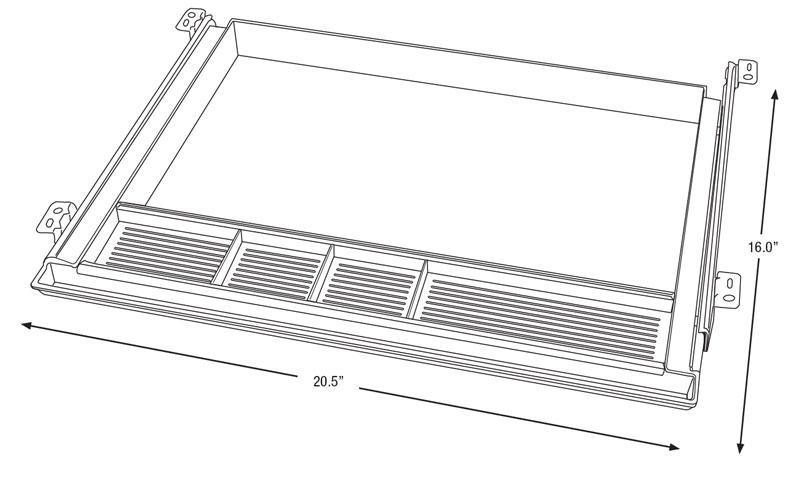 iMovR Hide-Away Storage Drawer Diagram
