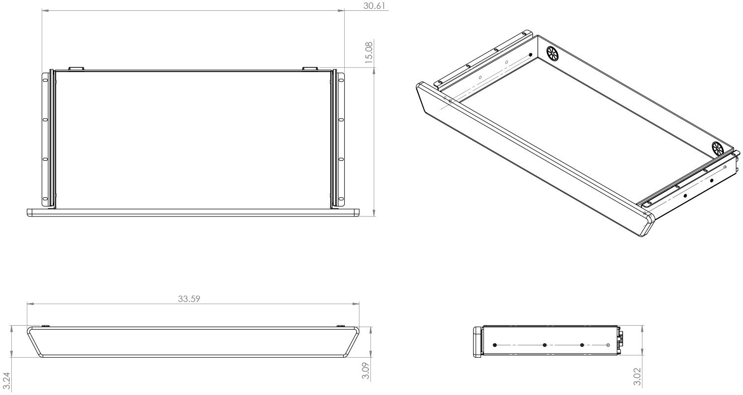 Lander Premium Drawer Product Diagram