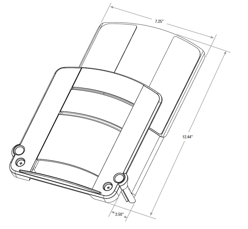 iMovR Laptop Mount Tray Diagram