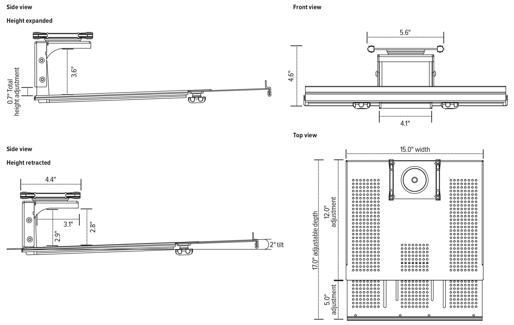 iMovR Tech Dock Dimensions