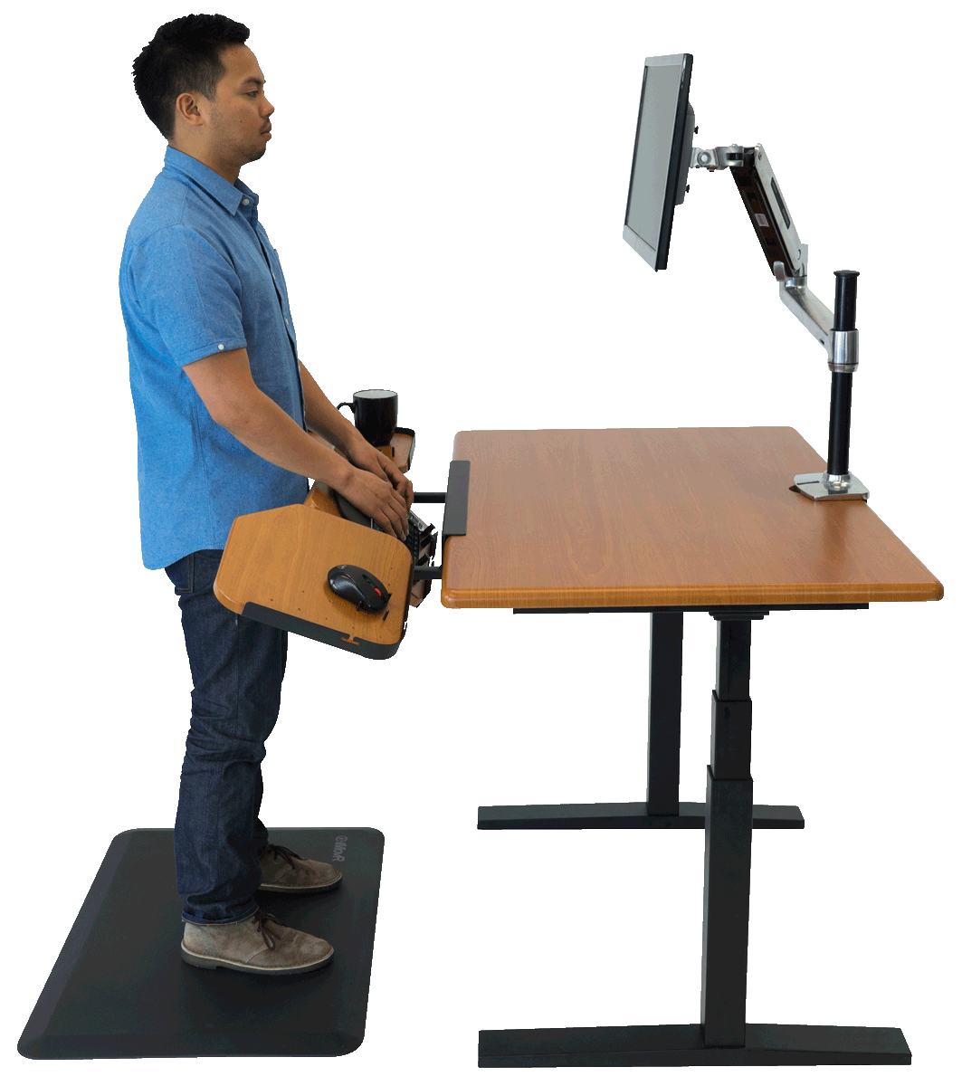 Elevon Ergonomic Keyboard Tray For Standing Desks And Treadmill Desks