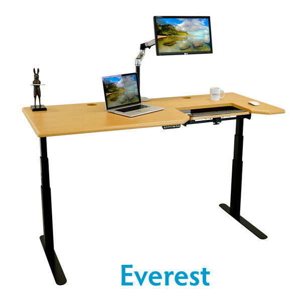 Omega Everest Stand Up Desk in 4 Sizes & 11 Standard Finishes