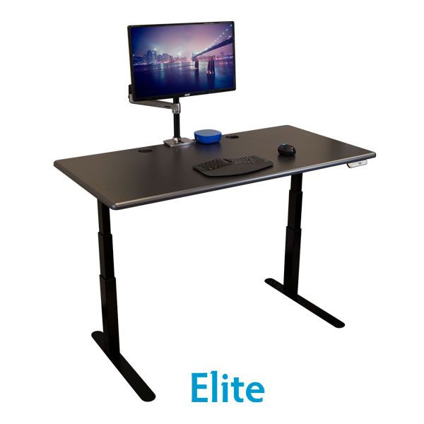 Elite Stand Up Desks in 4 Sizes & 11 Standard Finishes