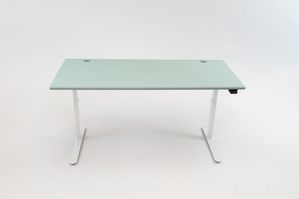 A Luxe Sage desktop on a white base.