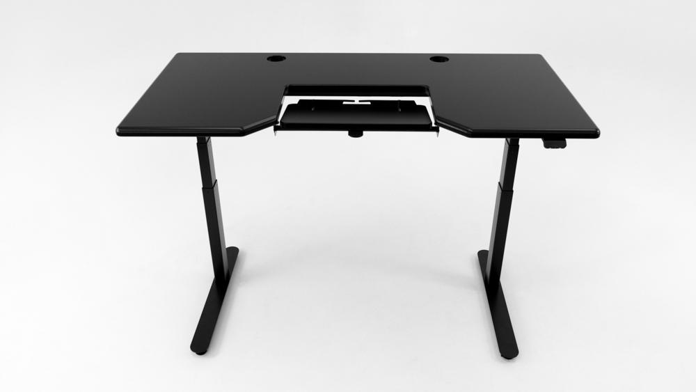 A Black desktop on a black base.