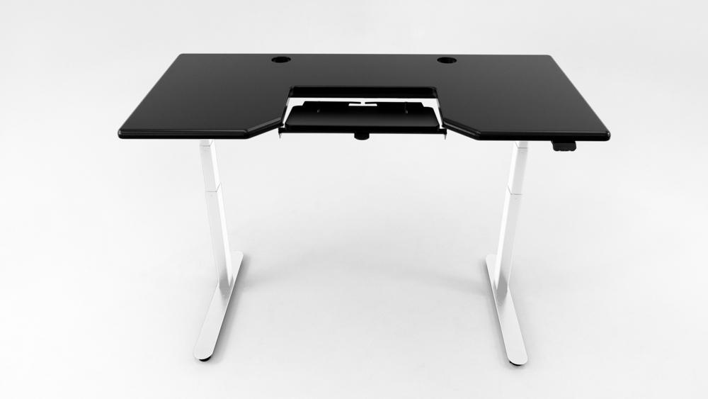 A Black desktop on a white base.