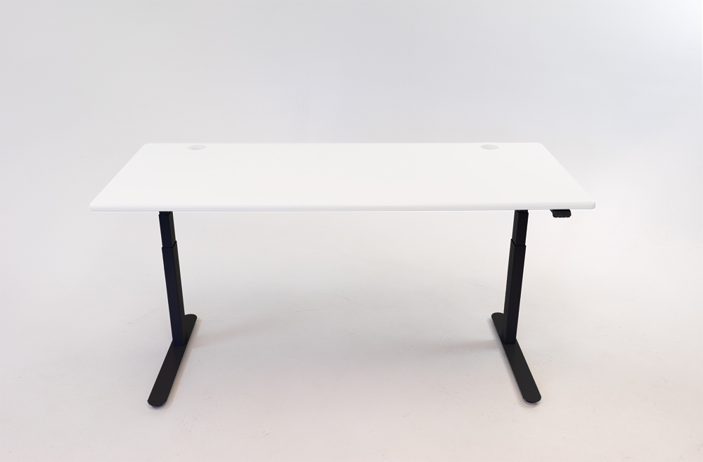 A Designer White desktop on a black base.