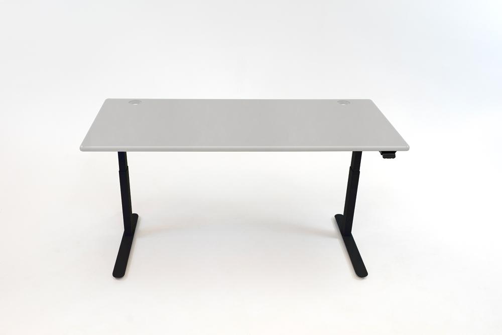 A Fashion Gray desktop on a black base.