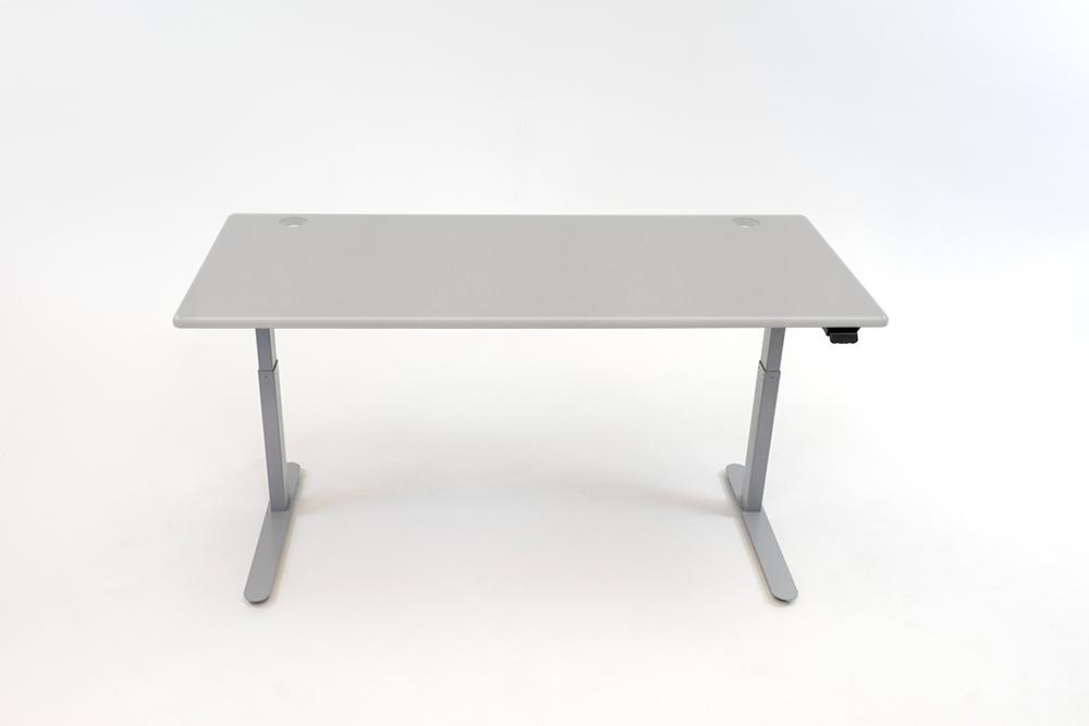 A Fashion Gray desktop on a silver base.