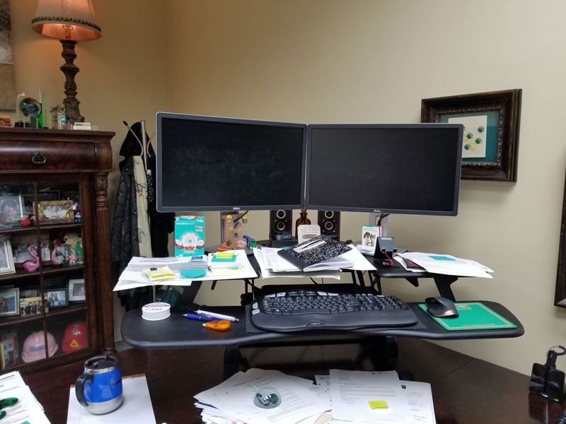 Kimberly Foster replaces her Varidesk