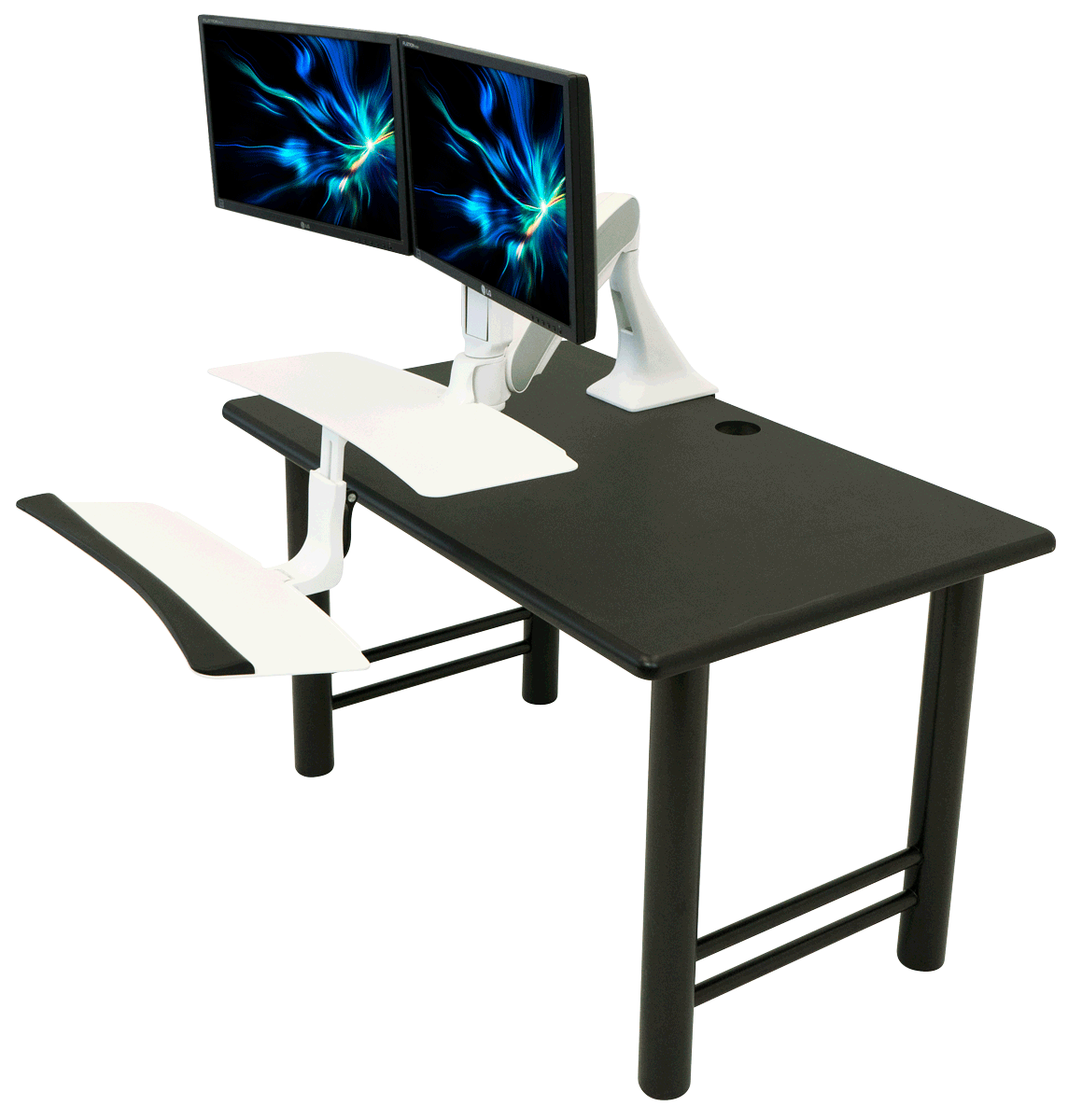 iMovR Cadence Sit-Stand Desk Converter on Desk