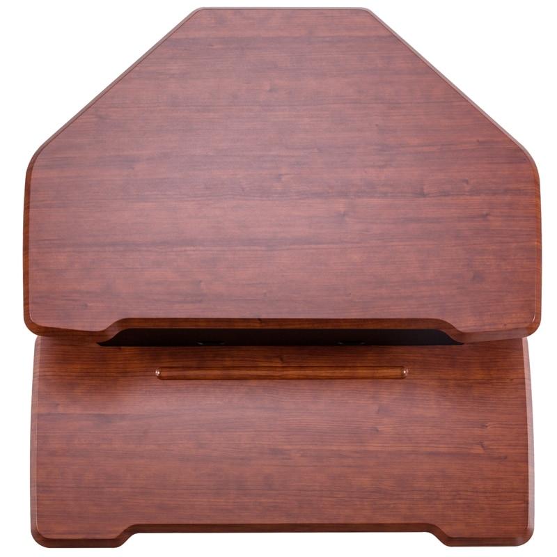 iMovR+Eureka 28″ Z-Lift Corner Standing Desk Converter - Cherry