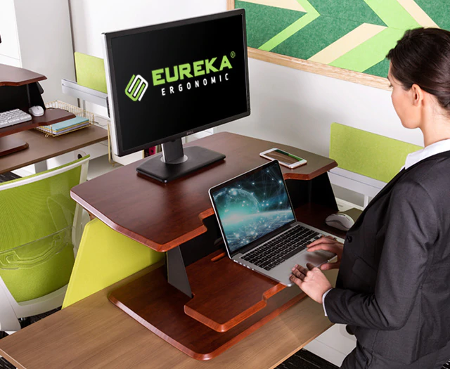 "iMovR+Eureka 31"" Single-Arm Z-Lift Standing Desk Converter - Laptop"