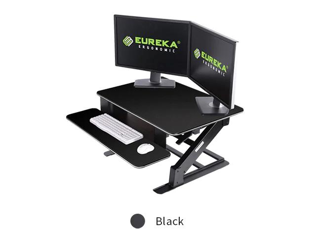 """iMovR+Eureka 32"""" Z-Lift Standing Desk Converter - Black"""