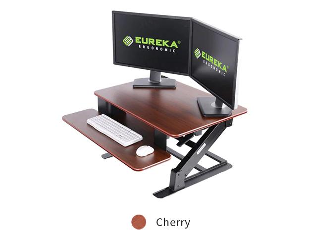 """iMovR+Eureka 32"""" Z-Lift Standing Desk Converter - Cherry"""