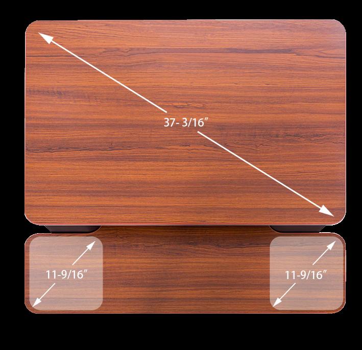 "iMovR+Eureka 32"" Z-Lift Standing Desk Converter - Large Desktop"