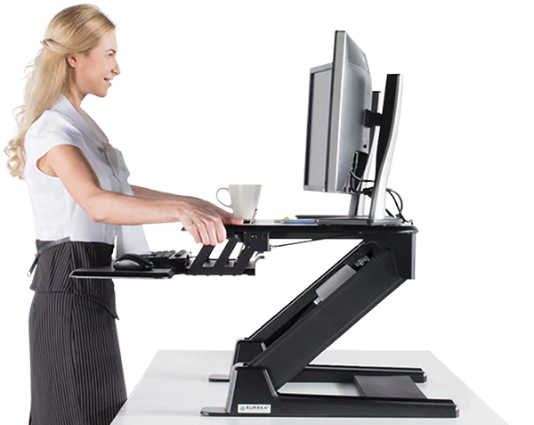 "iMovR+Eureka 36"" Z-Lift Standing Desk Converter - Smooth Operation"