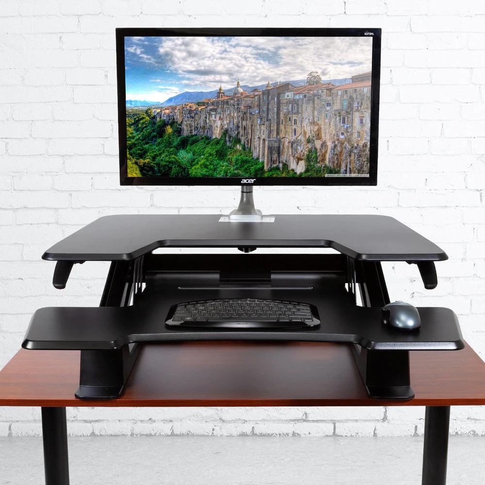"""iMovR+Eureka 36"""" Z-Lift Standing Desk Converter"""