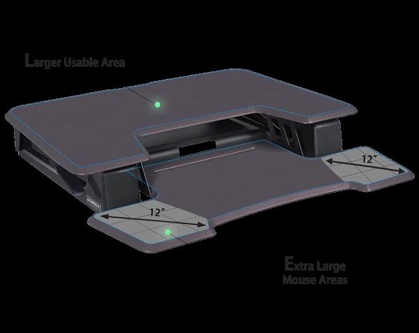 "iMovR+Eureka 36"" Z-Lift Standing Desk Converter - Large Desktop"