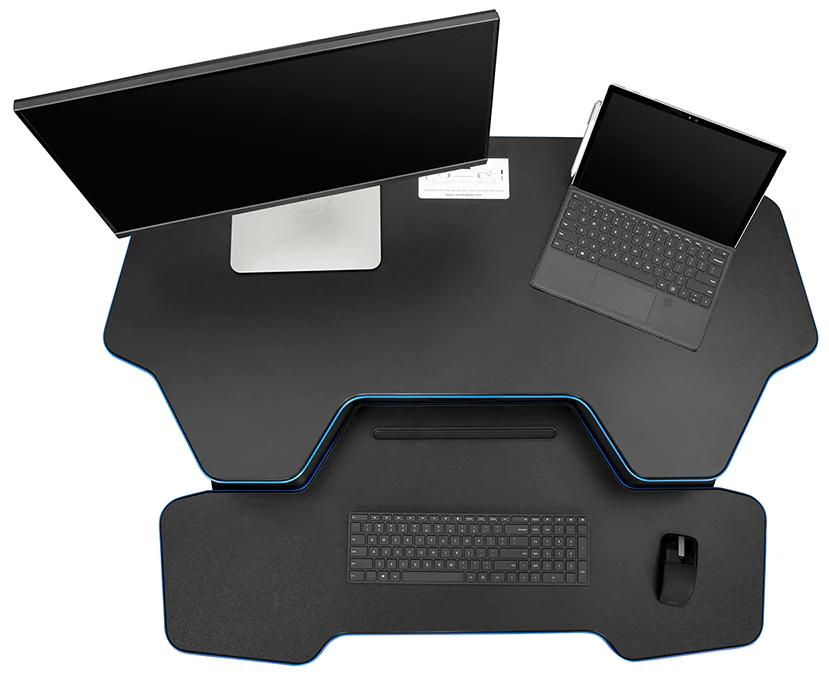 "iMovR+Eureka 46"" Z-Lift Standing Desk Converter - Expansive Desk Surface Area"