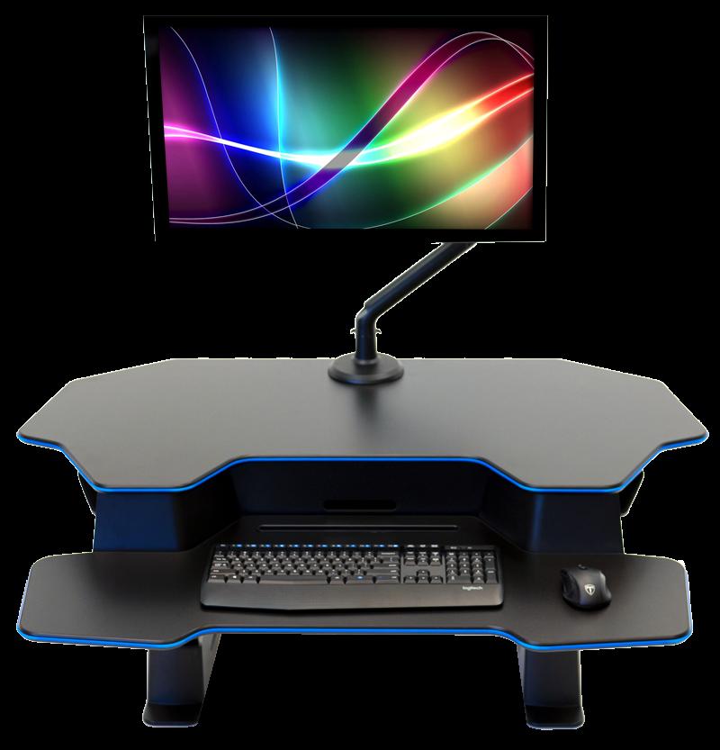 """iMovR+Eureka 46"""" Z-Lift Standing Desk Converter"""
