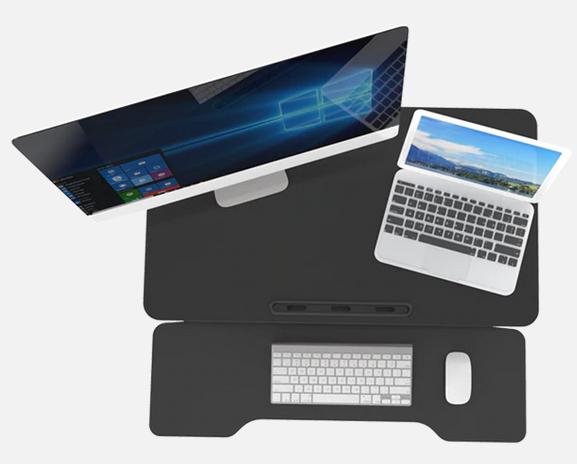 iMovR+Eureka 32″ X-Lift Sit-Stand Desk Converter top view.