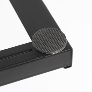 The iMovR+Eureka Ultra-Slim Portable Sit-Stand Converter features anti-slip foot pads that will protect your existing desk's surface.