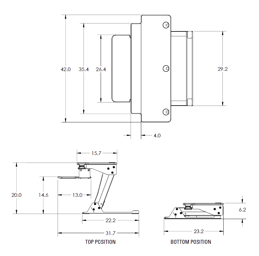 ZipLift+ HD Specs Diagram