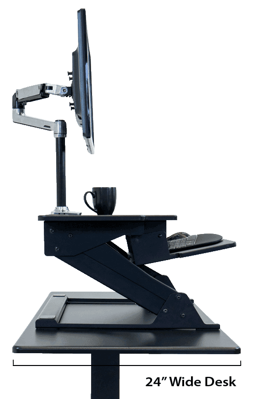 ZipLift+ HD Compact Depth for Smaller Desks