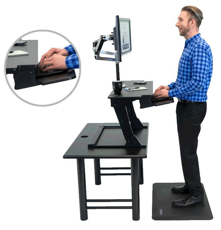 Standing Desk Converter For Two Monitors