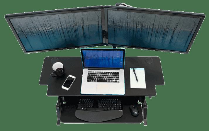 ZipLift+ HD Wide Work Surface for Multiple Monitors