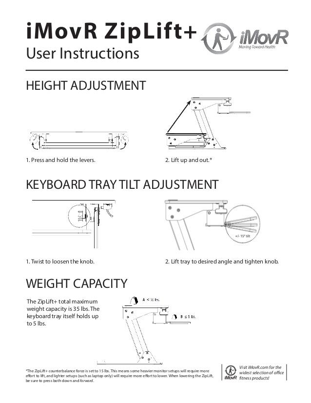 iMovR ZipLift+ User Instructions