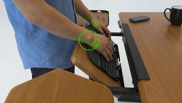 SteadyType ergonomics
