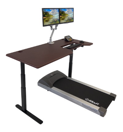 Lander Treadmill Desk in Clove Mahogany